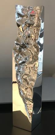 Pilastro Marino, 2019 Helidon Xhixha Mirror polished stainless steel 31 1/2 x 6 1/4 x 6 1/4 inches 80 x 16 x 16 cm