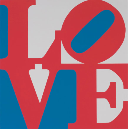 Book of Love (From a Portfolio of 12 silkscreen prints and 12 Poems) Red/white/Blue, 1996 Robert Indiana Silkscreen 24 x 20 inches (61 x 50.8 cm) Edition 179/200