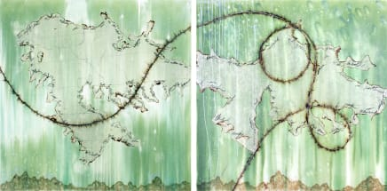 Mira Lehr, What this Earth does not Remember I and II (diptych), 2020