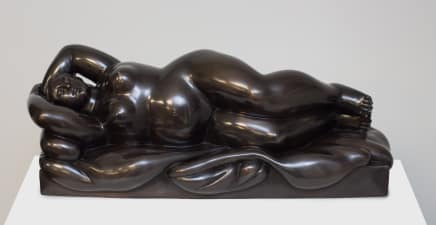 Reclining Woman, 1999 Fernando Botero Bronze 9 1/8 x 25 x 9 1/2 inches (23 x 63.5 x 24 cm) Edition 2/2 AP (From Edition of 6 + 2 AP)