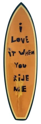 I Love It When You Ride Me, 2019 Nico Guilis Fiberglass, resin, squash tail point nose