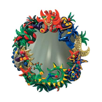 Siren's Mirror, 1998 Federica Matta Acrylic on polyester resin and mirror Diameter: 39 3/8 inches Diameter: 100 cm