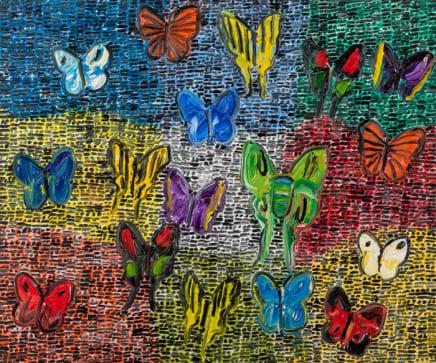 Hunt Slonem, Guardians Butterflies Fri, 2020