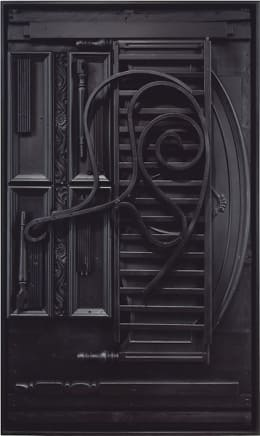 Untitled, 1976-78 Louise Nevelson Wood painted black 77 1/2 x 46 x 6 3/4 inches (196.9 x 116.8 x 17.1 cm)
