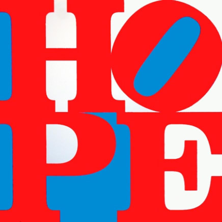 HOPE (Red/White/Blue), 2008 Robert Indiana Silkscreen on canvas 36 x 36 inches (91.4 x 91.4 cm) Edition I/V