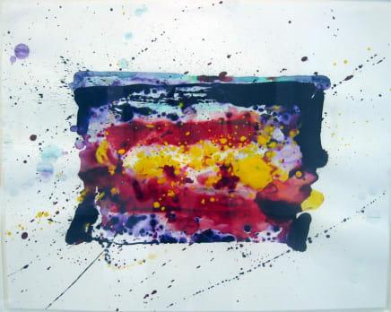 SF76-003, 1976  Sam Francis  Acrylic on paper  22 7/8 x 29 inches (58.1 x 73.7 cm)