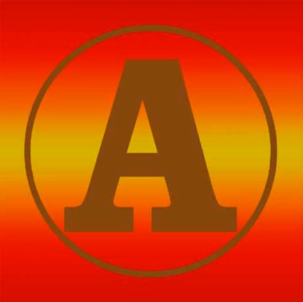 Gold Sunset II, 2011 Robert Indiana Silkscreen on canvas 24 x 24 inches (61 x 61 cm) Unique