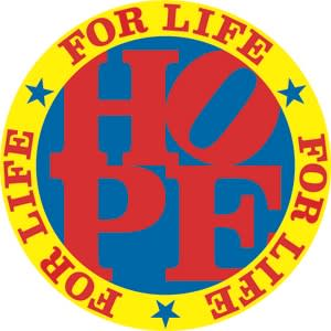 HOPE for Life, 2011 Robert Indiana Silkscreen on paper 41 x 38 inches (104.1 x 96.5 cm) Edition 2/90