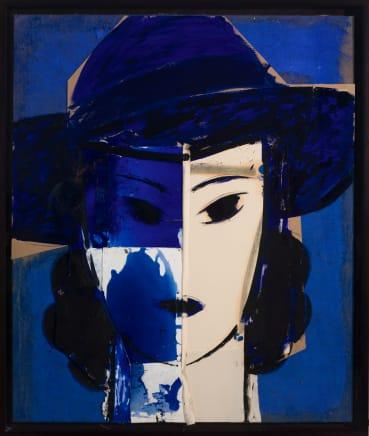 Manolo Valdés, Dama con Sombrero Azul, 2017
