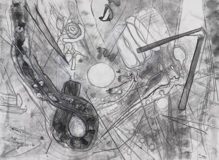 Untitled, 1999 Roberto Matta Oil on canvas 96 1/8 x 123 5/8 inches 244 x 314 cm