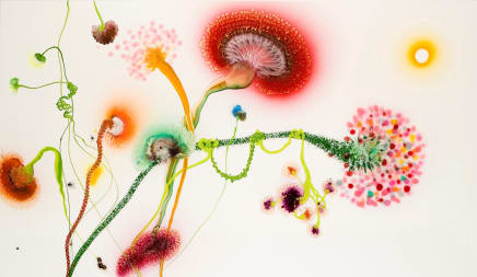Psychotropical /Endless Summer, 2007 Thierry Feuz Lacquer and acrylic on canvas 43 1/2 x 75 inches (110.5 x 190.5 cm)