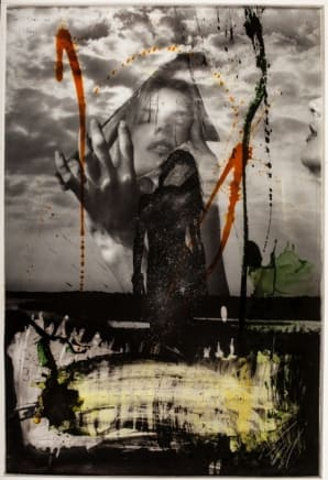 Reflections Raphael Mazzucco Archival print and mixed media encased in resin 60 x 40 inches (152.4 x 101.6 cm)