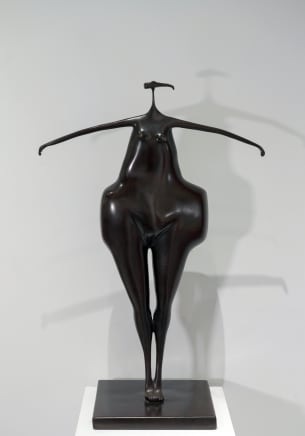 Totem o mujer cristiana, 1992 Abigail Varela Bronze with brown patina 35 3/8 x 22 7/8 x 12 5/8 inches 90 x 58 x 32 cm Edition of 8