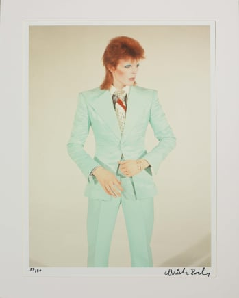 Bowie / Life on Mars, London, 1973 Mick Rock Epson Premium Lustre archival quality fine art print 24 x 20 inches 61 x 50.8 cm Edition 27/50