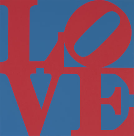 Book of Love (From a Portfolio of 12 silkscreen prints and 12 Poems) Red/Blue, 1996 Robert Indiana Silkscreen 24 x 20 inches (61 x 50.8 cm) Edition 179/200