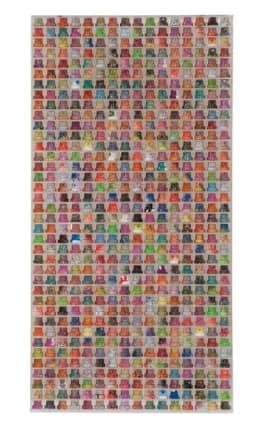 Cap 608, 2015  Omar Hassan  Mixed media  32.28 x 16.54 inches (82 x 42 cm)