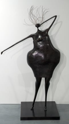Esperando de nuevo, 2017 Abigail Varela Bronze with brown patina 51 1/8 x 31 1/2 x 19 3/4 inches 130 x 80 x 50 cm Edition of 8