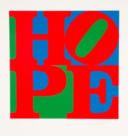 Classic HOPE, 2010 Robert Indiana Silkscreen on paper 39 x 39 inches (99.1 x 99.1 cm) edition of 82