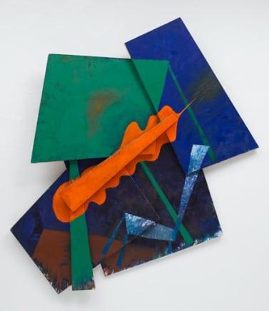 Like a Leaf, 1988 Elizabeth Murray Oil on shaped canvas construction 98 x 90 x 9 inches (248.9 x 228.6 x 22.9 cm)