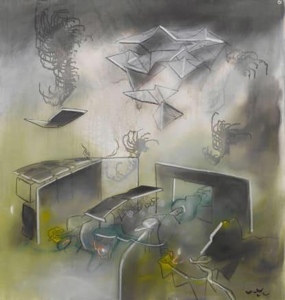 L'Aube Permanente, 1972 Roberto Matta Oil on canvas 39 3/4 x 38 3/8 inches 101 x 97.5 cm