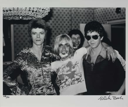 Bowie / Iggy/ Lou Reed, London, 1972 Mick Rock Epson Premium Lustre archival quality fine art print 20 x 24 inches 50.8 x 61 cm Edition 28/50