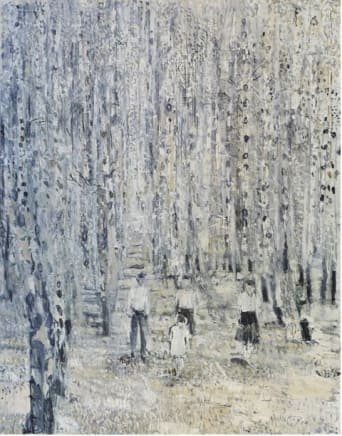 Birkenwald, 2010  Thomas Hartmann  OIl on canvas  63 x 47 1/4 inches (160 x 120 cm)