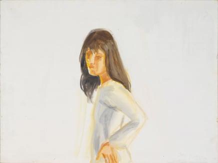 Kym in White, 2004 Alex Katz Oil on board 12 x 16 inches 30.5 x 40.6 cm