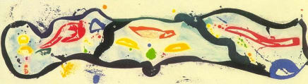 Untitled, 1989 Sam Francis Aquatint printed in colors with chine colle 23 1/2 x 63 inches (59.7 x 160 cm) Edition 3/18