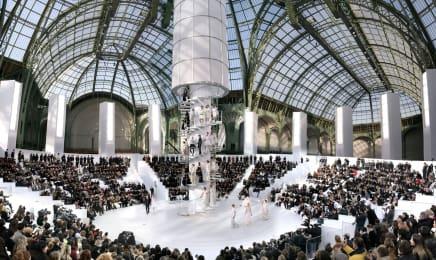 Chanel, The Tower Haute Couture - Spring/Summer 2006, Paris - Grand Palais  Simon Procter  C-print  39 3/8 x 65 3/4 inches  100 x 167 cm  Edition of 10, plus 2AP