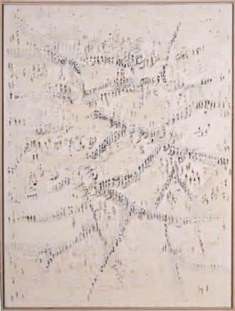 An Ort und Stelle 4 (Hohere Ordnung), 2011  Thomas Hartmann  Oil on linen  63 x 47 1/4 inches (160 x 120 cm)