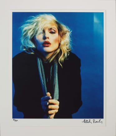 Blue Debbie Harry, New York City, 1978 Mick Rock Epson Premium Lustre archival quality fine art print 24 x 20 inches 61 x 50.8 cm Edition 18/50