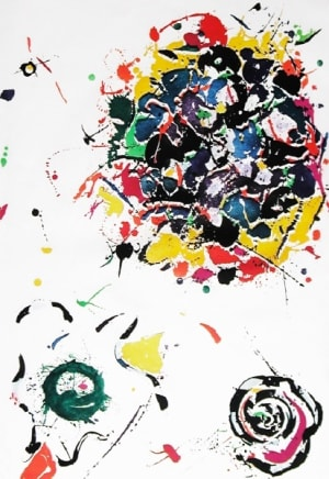 Untitled, 1987  Sam Francis  Etching with collage  Edition AP/20, 9 AP