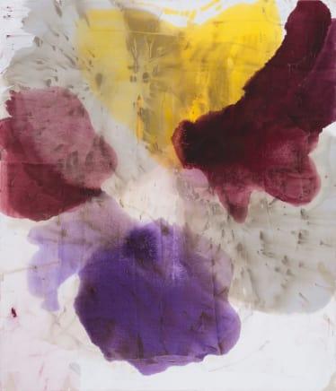 Pentas, 2014  Dirk De Bruycker  Asphalt, cobalt drier, gesso and oil on cotton duck canvas  84 x 72 inches (213.4 x 182.9 cm)