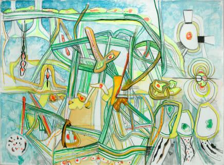 Morphologie de l'ame, 1996 Roberto Matta Oil on canvas 84.02 x 112.01 inches (213.4 x 284.5 cm)