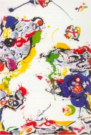 Untitled, 1987  Sam Francis  Aquatint  57 x 32 1/2 inches (144.8 x 82.5 cm)  Edition AP/20, 8 AP