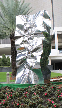 Thunder Light, October 2012 Helidon Xhixha Mirror-polished stainless steel 157.48 x 78.74 x 39.37 inches (400 x 200 x 100 cm)