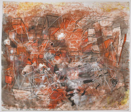 I Saw and Shut the Silence, 1999 Roberto Matta Oil on canvas 106 x 123 inches 269.2 x 312.4 cm