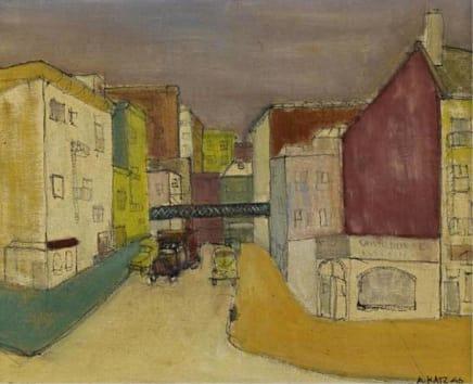 Untitled, 1946 Alex Katz Oil on canvas 16 x 20 inches (40.6 x 50.8 cm)