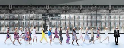 Chanel Machine, Spring Summer 2017, Le Grand Palais, Paris Simon Procter C-print 27 1/2 x 70 1/8 inches 70 x 178 cm Edition of 10, plus 2AP