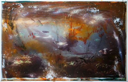 Moment of Time (Woman Underwater), 2013 Raphael Mazzucco Mixed media 61.5 x 91.5 inches (156.2 x 232.4 cm)