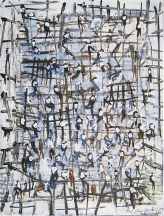 Auf dem Gerust 5, 2010 Thomas Hartmann Mixed media on paper 15 3/4 x 12 inches (40 x 30.5 cm)