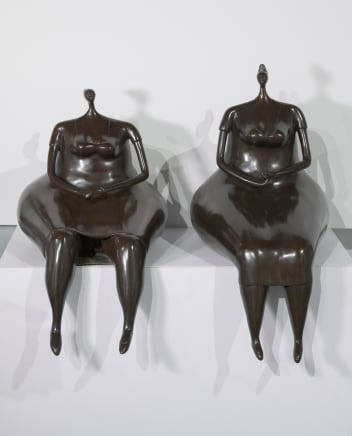 Las Comrades, 2007 Abigail Varela Bronze with brown patina 24 3/8 x 13 3/4 x 20 1/2 inches 62 x 35 x 52 cm Edition of 8