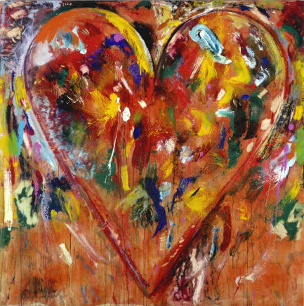 JIM DINE; Little Sweet Heirloom; 2007; Oil, acrylic, sand and charcoal on wood panel; 60 x 60 inches (152.4 x 152.4 cm)