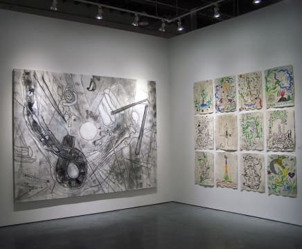 """Untitled"" and ""The Games"" in the Two Generations Roberto Matta and Federica Matta exhibition"