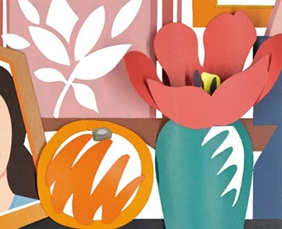 "Tom Wesselmann ""Still Life With Orange and Tulip"""