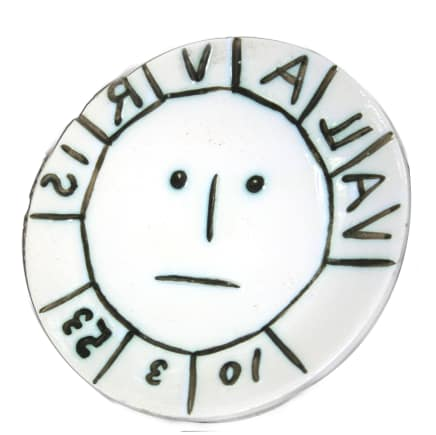 """AR 179 - Vallauris"" white earthenware clay ceramic plate by artist Pablo Picasso"