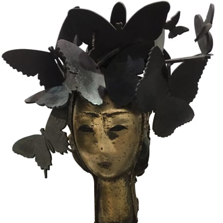 """Mariposas"" bronze sculpture by artist Manolo Valdes"