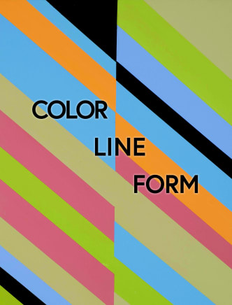 "Cover of ""Color Line Form"" exhibition catalogue"