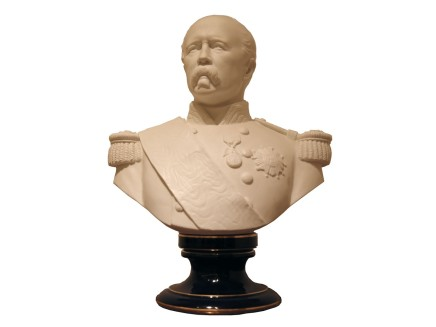 Sevres Style, Bust of General Forgeot, late 19th century