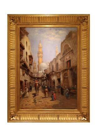 Frans Wilhelm Odelmark, Street in Cairo
